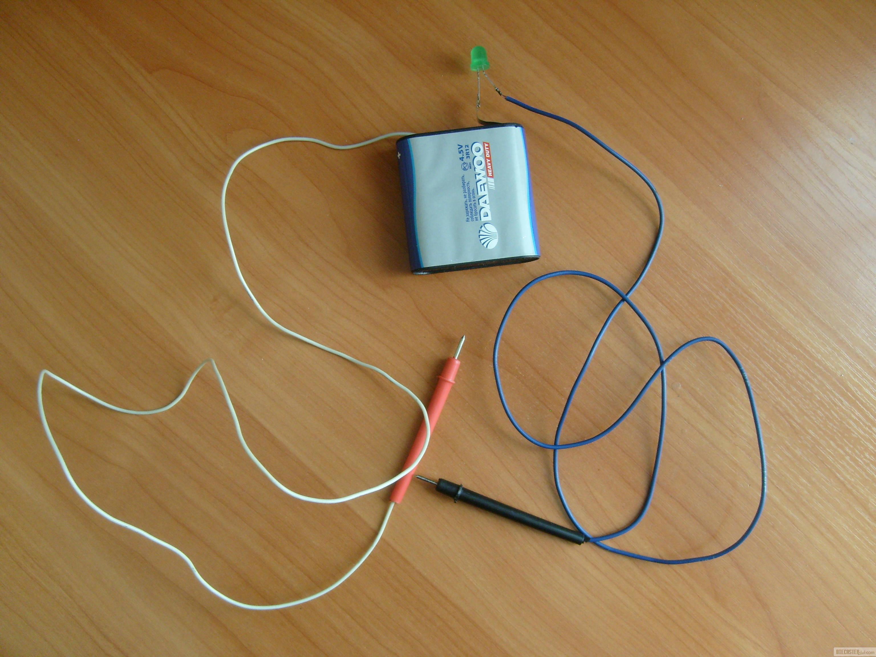 Прозвонка кабеля лампочкой и батарейкой. Как сделать прозвонку
